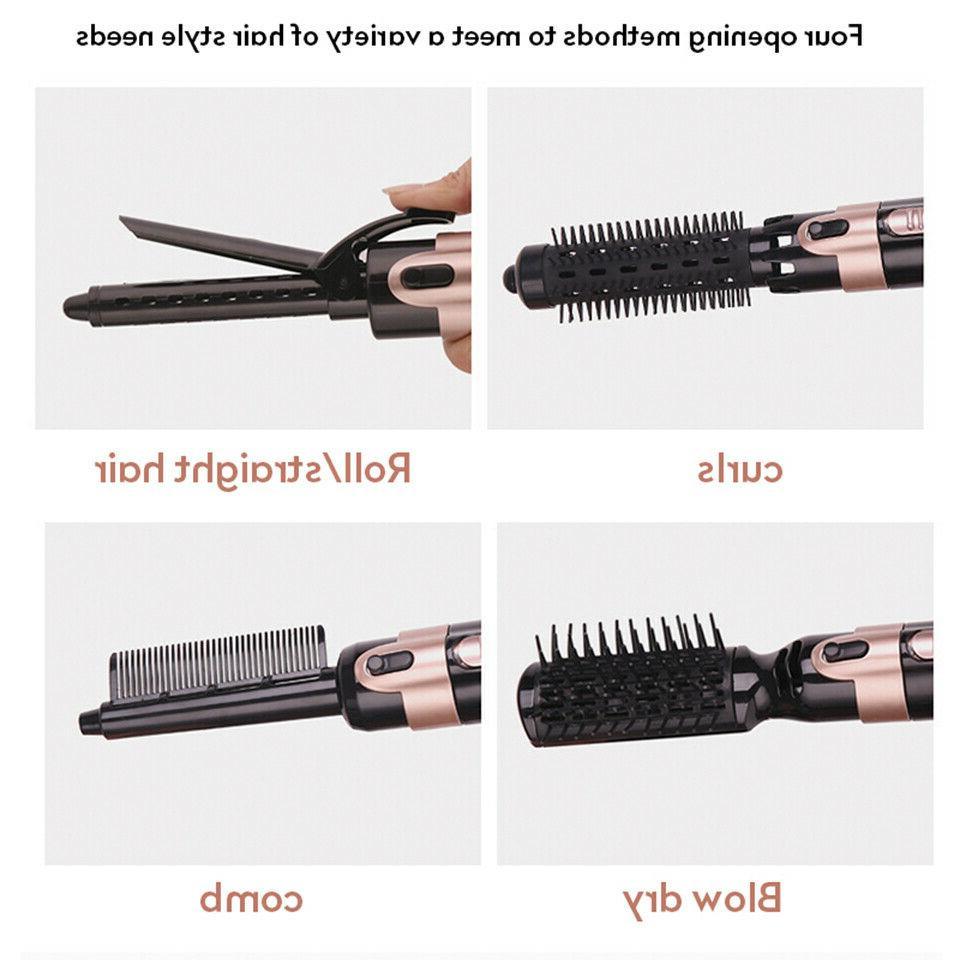 4 dryer hair straightener iron brush hot air comb