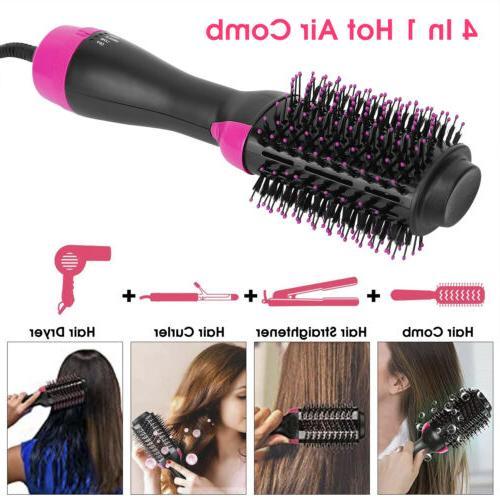 4 in 1  Hair Dryer Brush Hot Air Hair Volumizer Curler Strai
