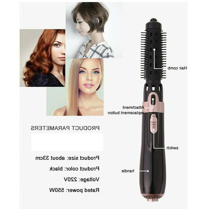 US Hair and Volumizer Brush Hot Air Iron Straightening Curling