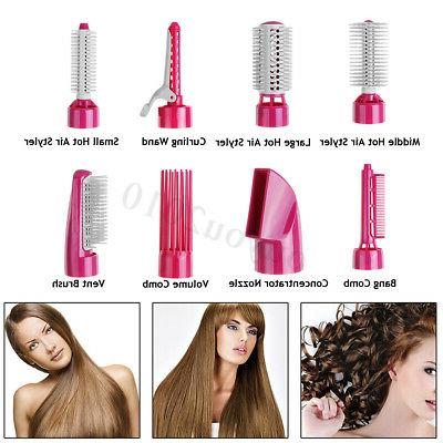 8-in-1 Dryer Styler Air Curle Curler Comb