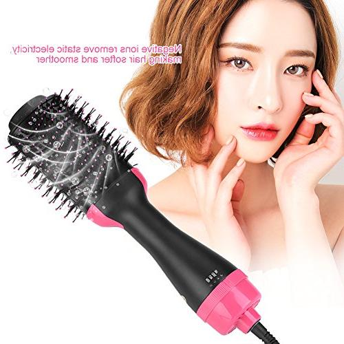 Ceramic Ion Air Comb Negative Blowing Hair Curlers Heat Professional Styling