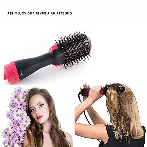LIFEQIYI & Hot Air Paddle Brush Ion Generator Hair Curler for Hair