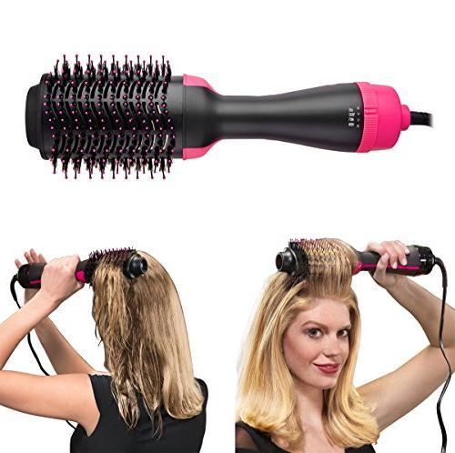 One Hair & Volumizer, Blower Volumizing Styler Negative Ion Brush Curler Hair