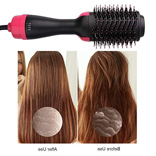 Hot Air Brush, Step Dryer Styler & Multi-functional High-power Ion Hair & Curly for Anti-Scald Feature