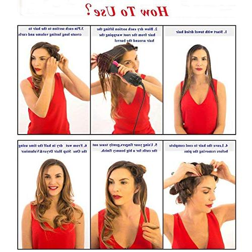 Hot Air Fomei Salon Step Dryer 3-in-1 Hair Straightener & Curly Comb Hair Type Frizz Static 725756617165