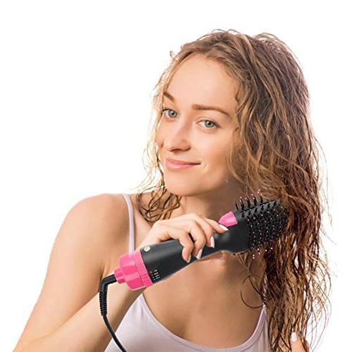 Hot Brush Multifunctional hot 1000W Air Paddle Brush Negative Ion Hair Straightener Styler for Short