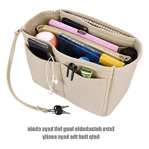Makeup Bag Felt Bag Organizer Cosmetic Travel Toiletry Bag Organizer