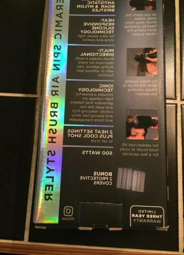 Conair Pro Hot Air Brush. SILICONE BRUSH. Box Has Tape.