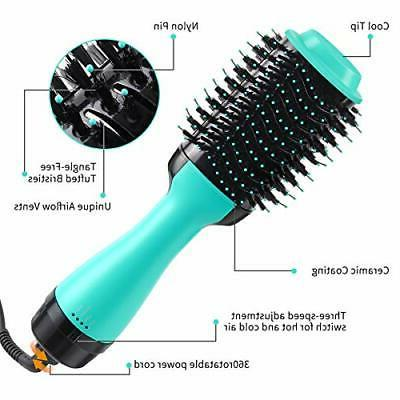 Beauty Hot Air Hair Brush Styles Curlers
