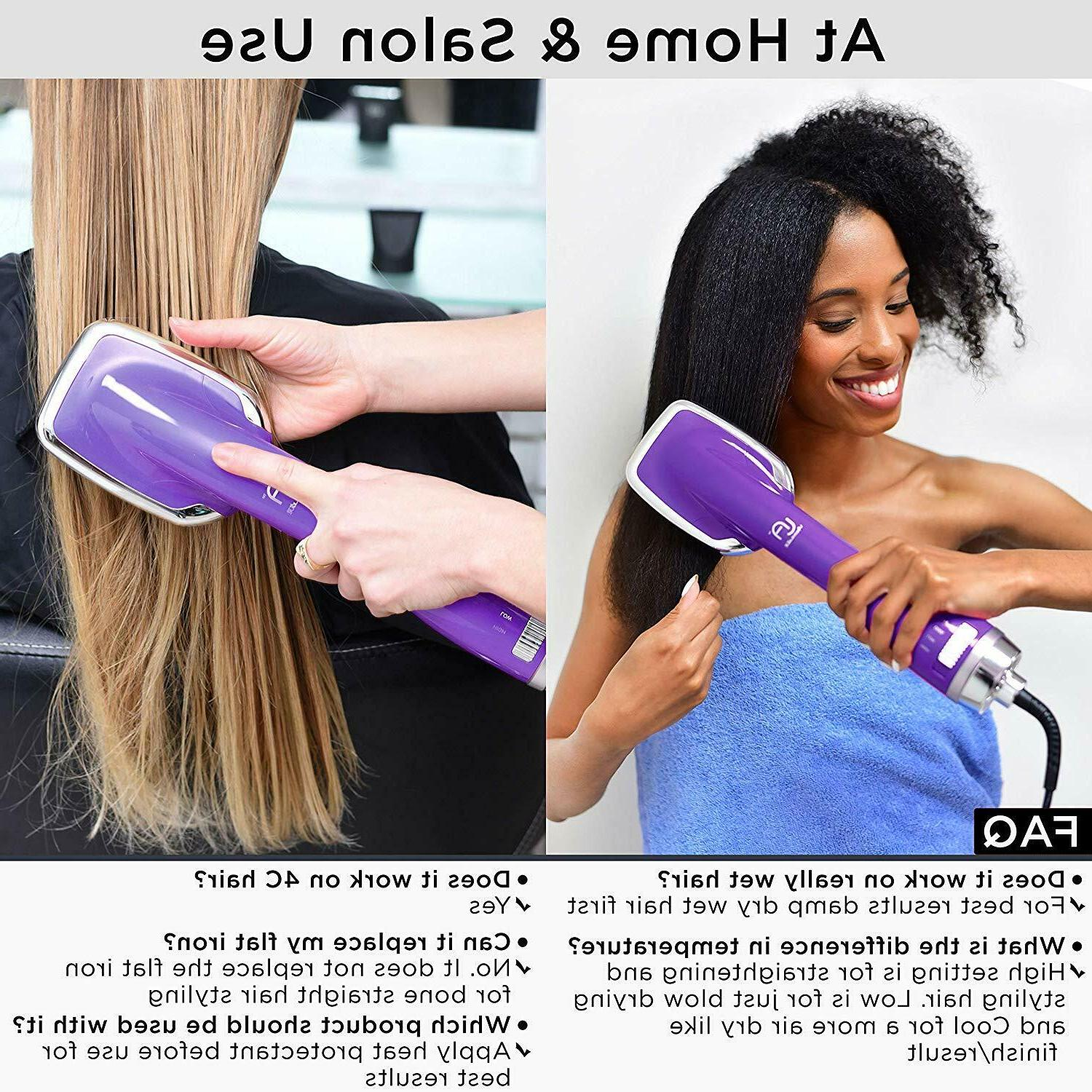 Hot Air Hair Brush One Step Angelique Ion Blow