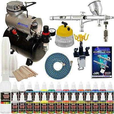 Complete Pro Dual-Action AIRBRUSH w-AIR COMPRESSOR KIT Paint