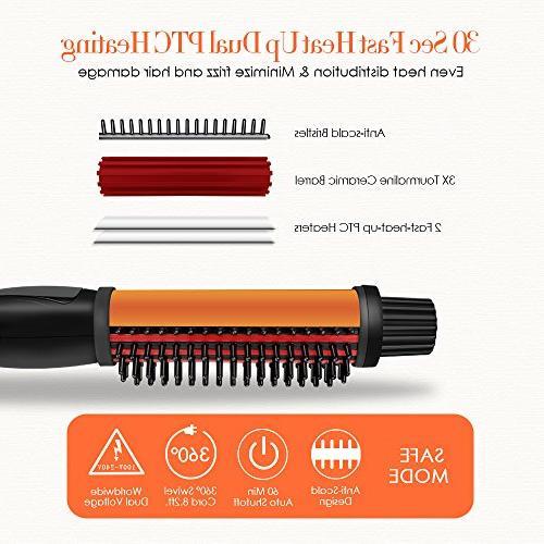 SwanMyst 1.25 Inch Anti-scald Bristles, 3 Ceramic Hot Curling Voltage