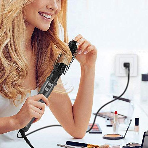 HISOON Iron Brush, Automatic Wand in 1 Rotating Curling Detachable Anti-Scald Up Curler Brush