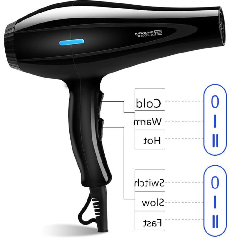 <font><b>220V</b></font> <font><b>Hair</b></font> <font><b>Dryer</b></font> Air with Concentrator Nozzles Diffuser Comb Salon Household Hairdryer Styling Tool