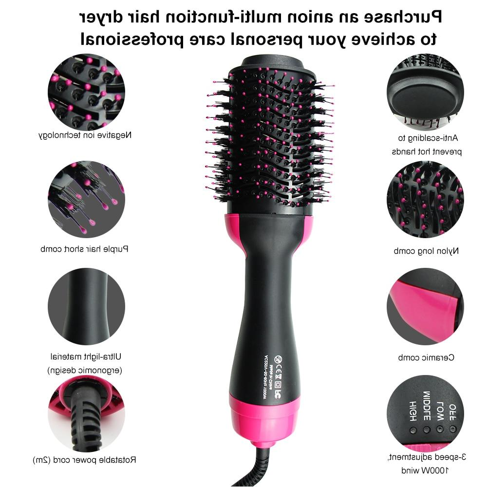 <font><b>Curling</b></font> 2 One Step lectric Air Hair <font><b>Dryer</b></font> Brush & <font><b>Iron</b></font> Curler