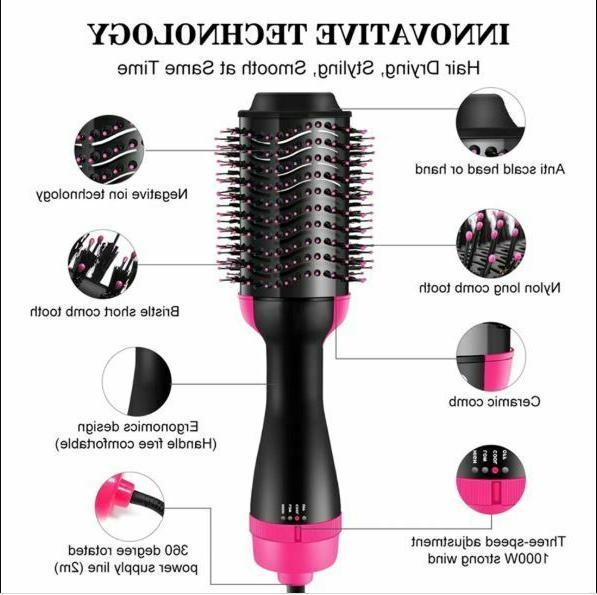 Hair Air Blow Iron Straightener