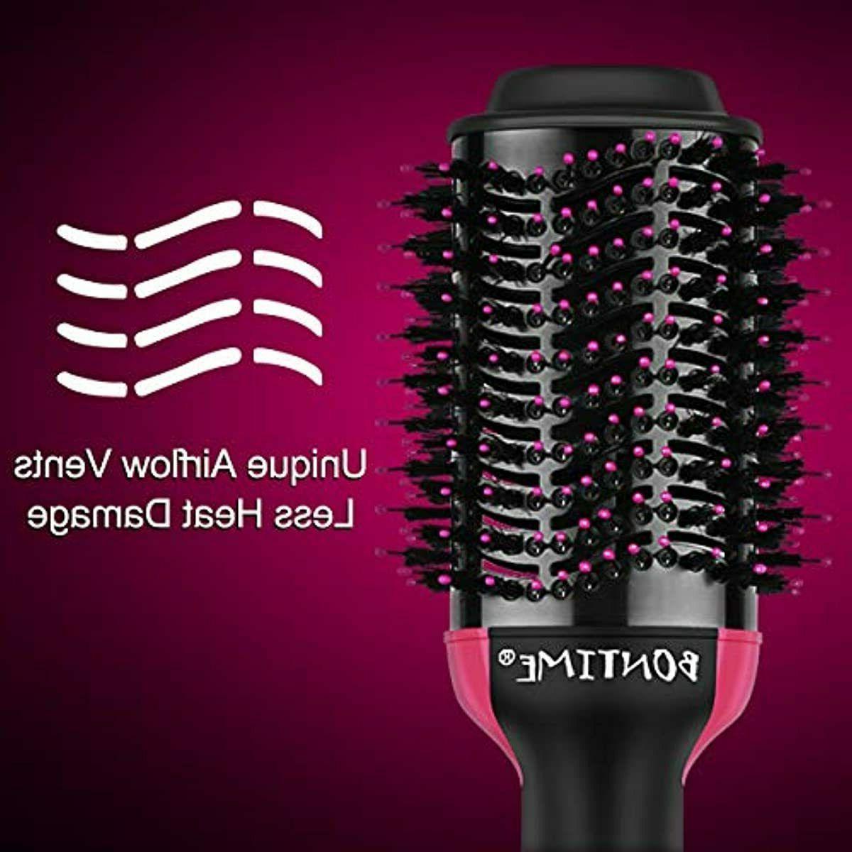 Hair Brush Brush Brush by BONTIME, 2-IN-1 Hair Dryer and