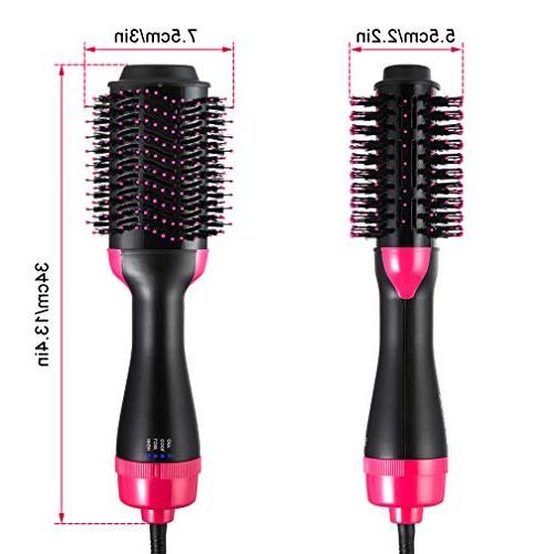 Hair One Step Hot Air Brush Curler Hair Straightener Brush Dryer Salon Hair All