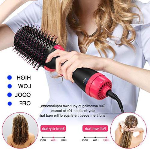 Hair Brush Step Brush Hair Curler Straightener Ionic Brush Blow Dryer Ionic Salon Hair All