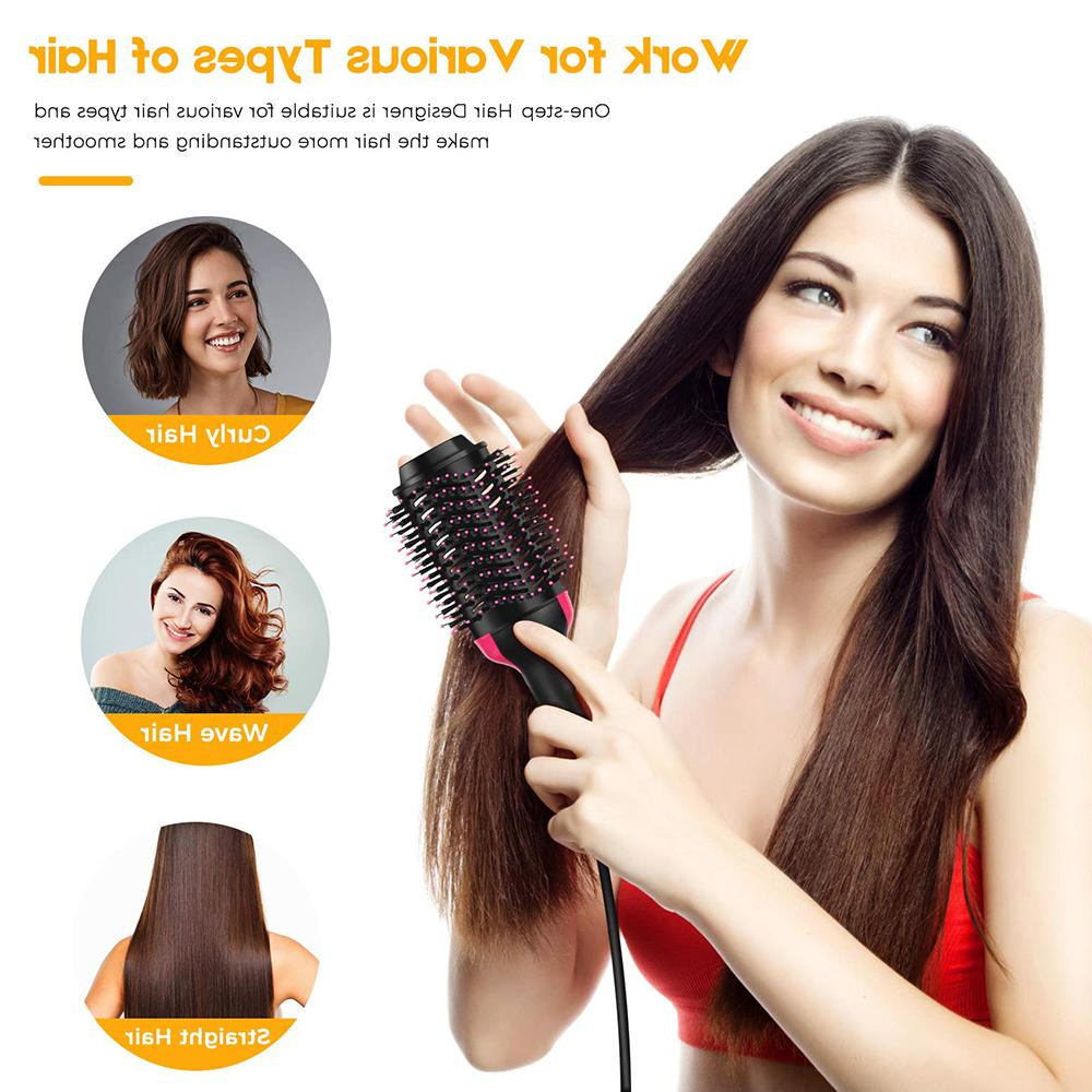 Hair Brush Hot Air Revlon Straightening Salon Iron