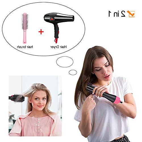 GinTai Hair Hair Straightener Curler One-Step Air Paddle Negative Ion Generator Quick Hot Kit