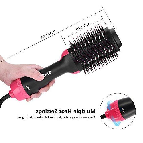 GinTai Hair Hair Curler One-Step Salon Hot Paddle Negative Quick Styling Air