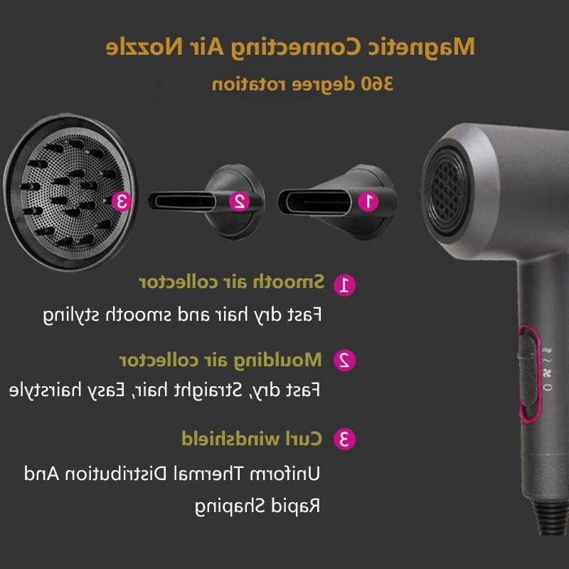 Hair <font><b>Dryer</b></font> Cold <font><b>Blow</b></font> Air Comb 3 in 1 <font><b>Brush</b></font> 2000W Brus Styling