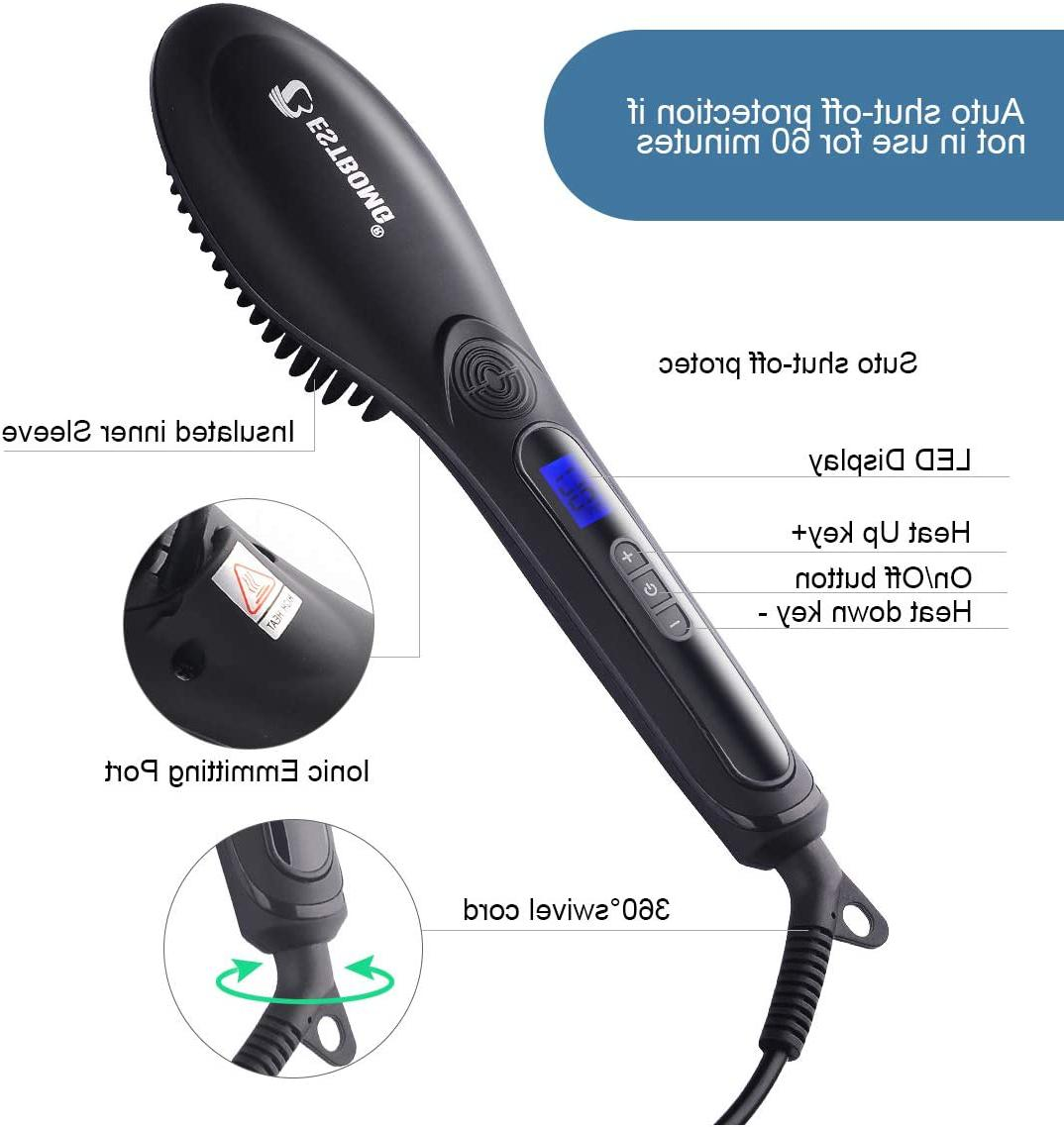 hair straightener anti scald fast heating electric
