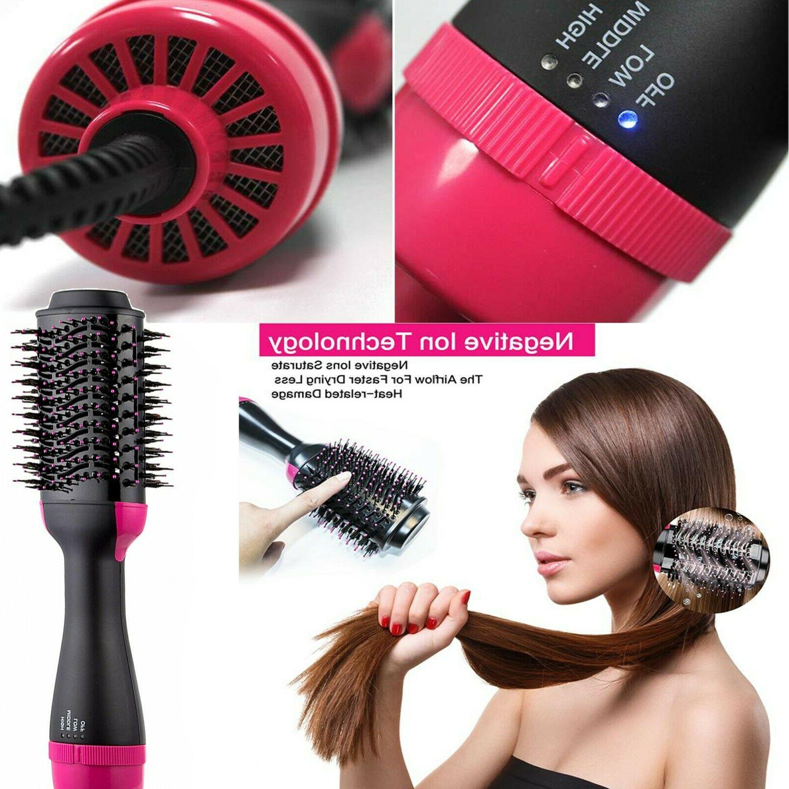 hair straightener brush hot air dryer brush
