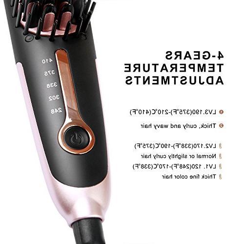 Hair Straightening Buture Straightener Brush Negative Iron Brush Heat Hot Brush Size Anti-scald Temperature Lock