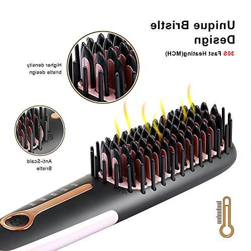 Hair Brush Buture Hair Brush Iron Brush Heat Brush Size Anti-scald MCH 110-240V Temperature