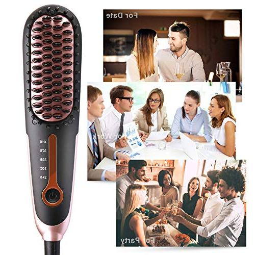 Hair Buture Hair Brush Iron Heat Hot Size Temperature