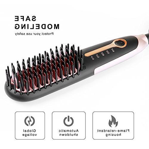 Hair Buture Mini Brush Heat Brush Travel Size Anti-scald Temperature