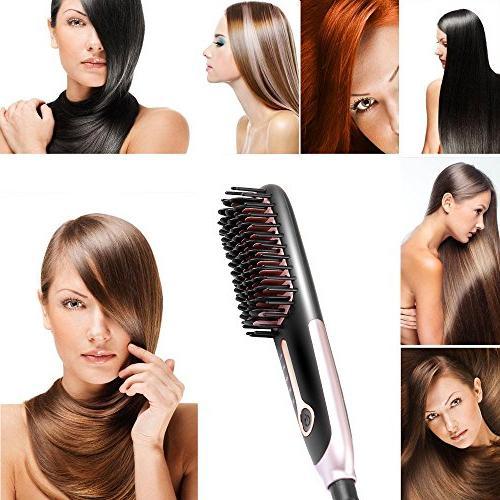 Hair Brush Buture Mini Brush Iron Brush Fast Heat Size Temperature Lock