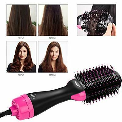 Hot Air Brush, CkeyiN Hair Dryer Volumizer Professional Ceramic Blow Dryer for