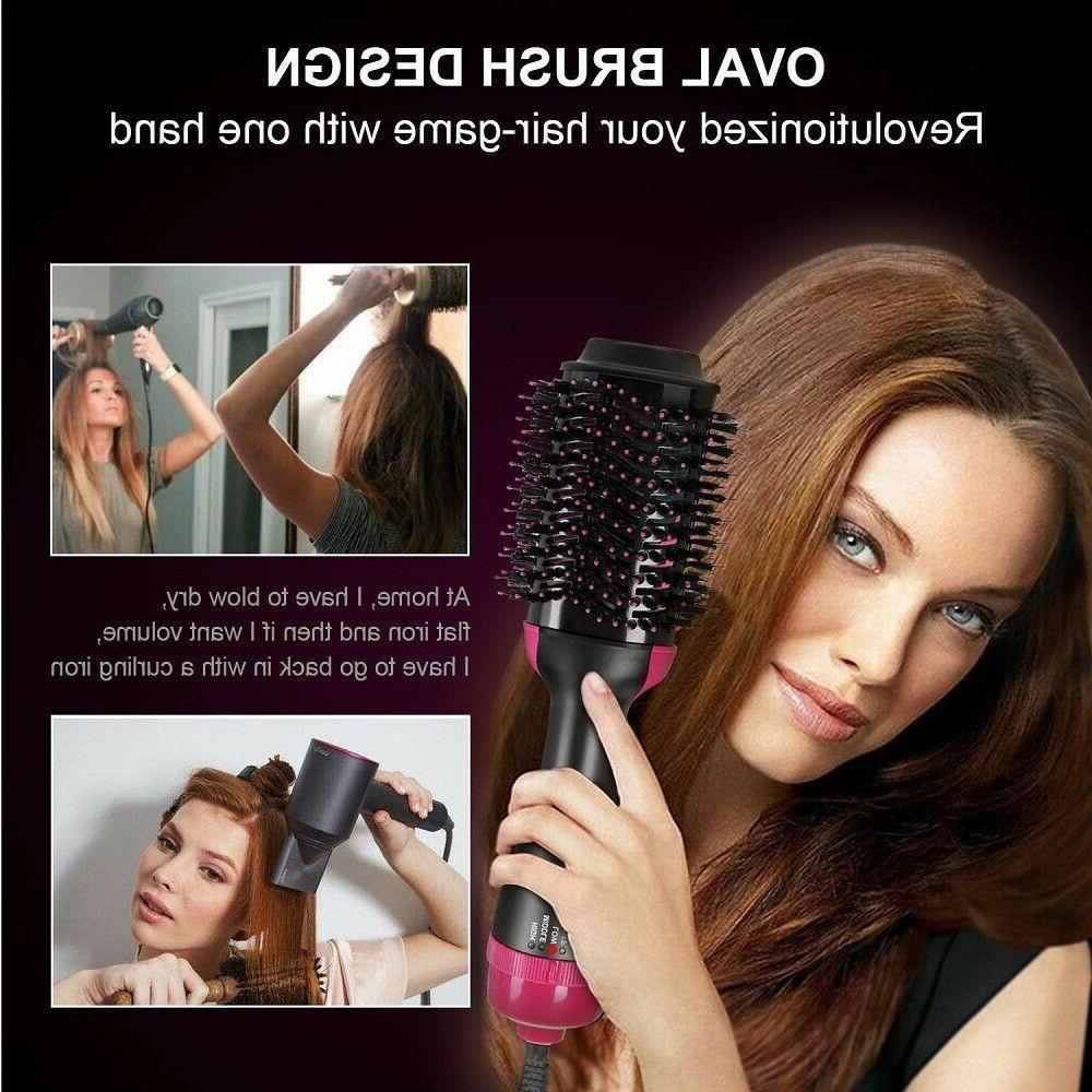 Hot Air Brush Curler Straightener Dryer