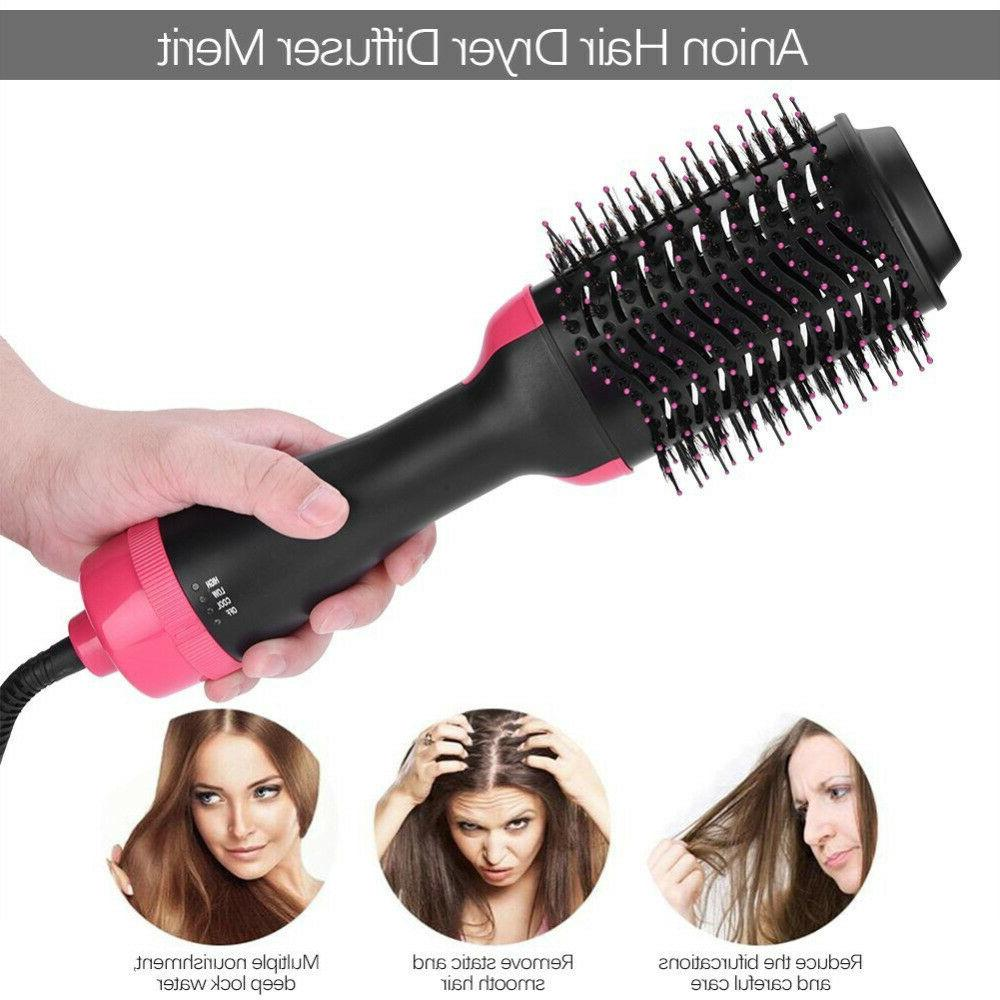 Hot Ion Hair Dryer Paddle Styling Curl