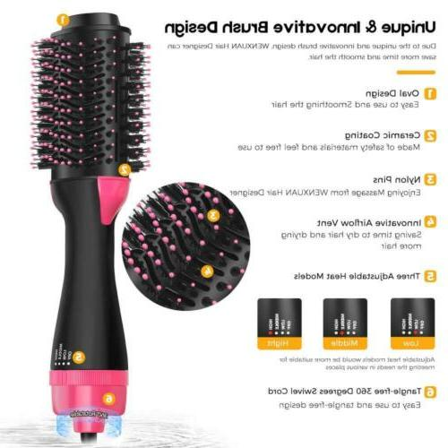 One-Step Hot-air Hair Designer Dryer and...
