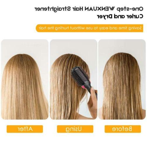One-Step Hot-air Brushes Hair Straightener Dryer