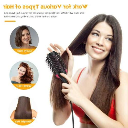 One-Step Hot-air Brushes Hair Designer Straightener Dryer