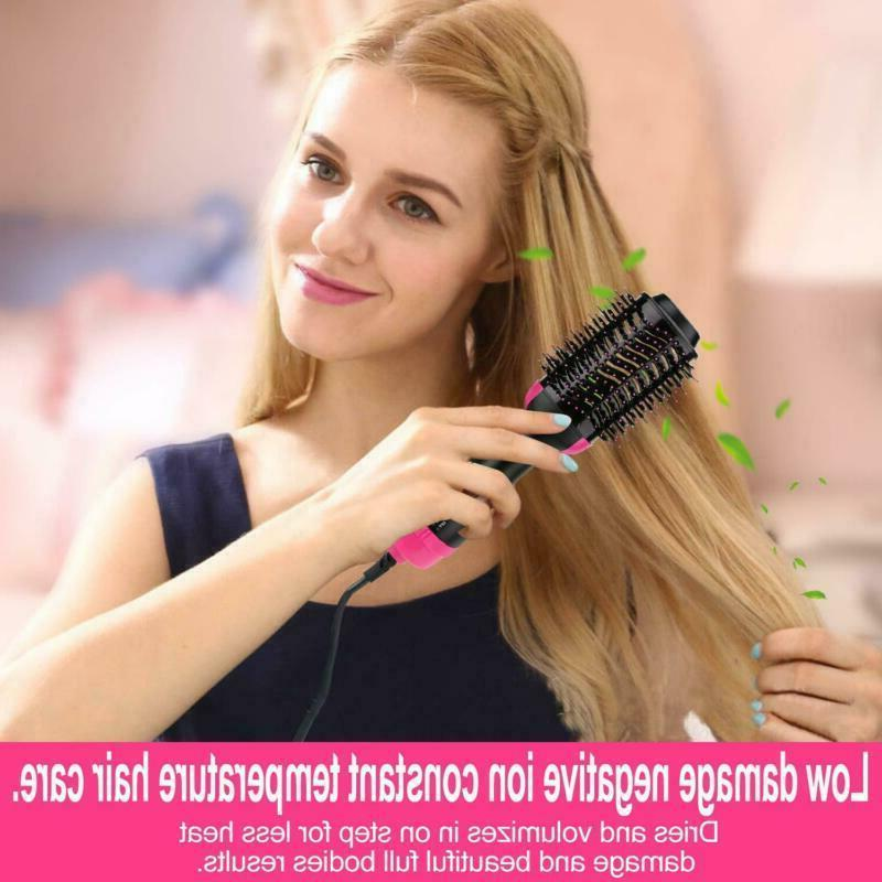 Hot Air Brush Step Hair Straightener Fast Styling