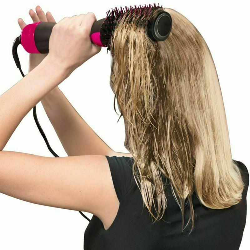 Hot Brush Step Hair Straightener Curling Fast Styling