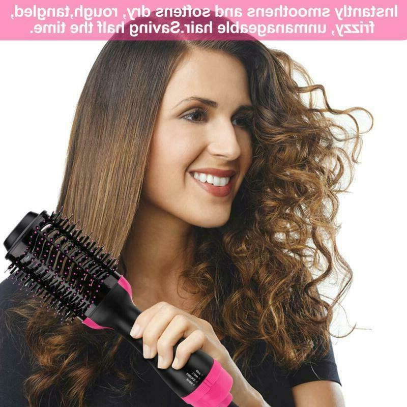 Hot Air Brush One Step Hair Dryer Straightener Curling Iron Styling