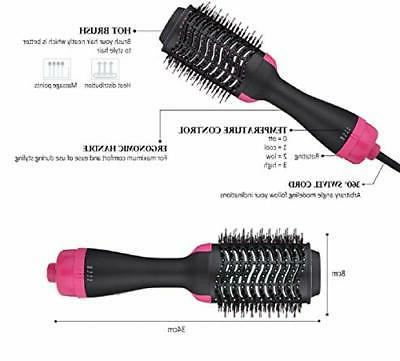 Hot Air Step Hair Volumizer Styler Brush,Hair