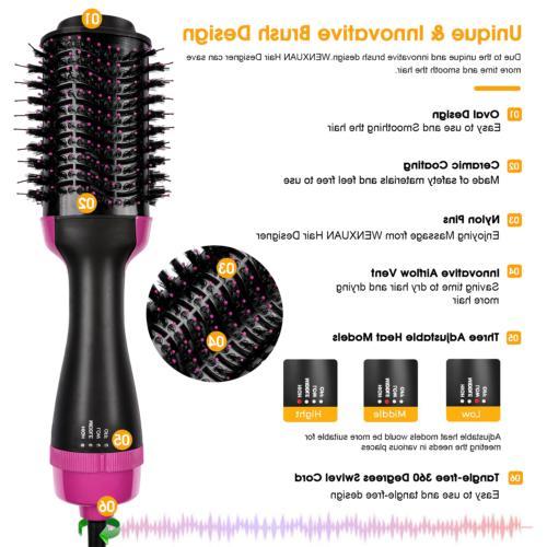One Hair Dryer Volumizer Curler Comb Hot Air