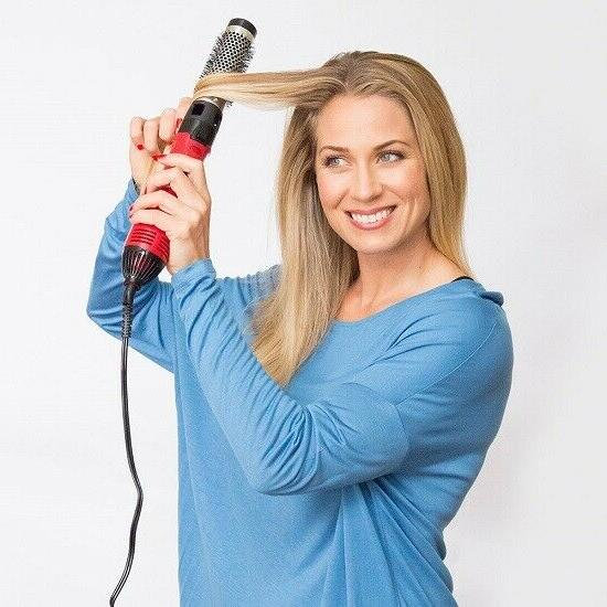Hot Iron Brush Styler Blow Dryer Volume Soft Curls