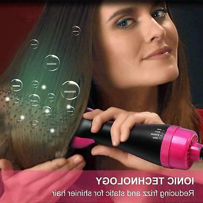 Hot Hair Brush One With Negative Ion Dryer