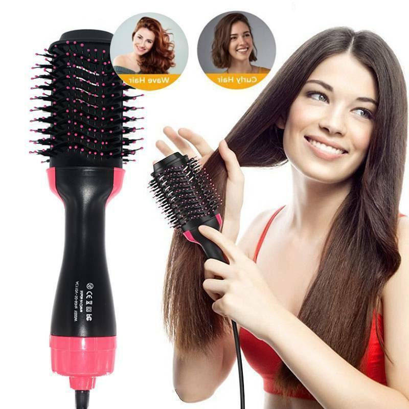 4 In 1 One Step Hair Dryer Hot Air Brush Styler Paddle Detan