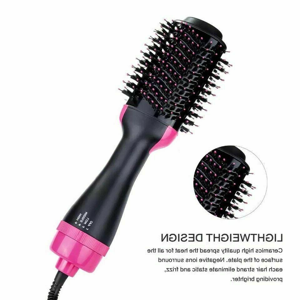 Hot Air Brush Step Volumizer With Negative Ion Blow Dryer