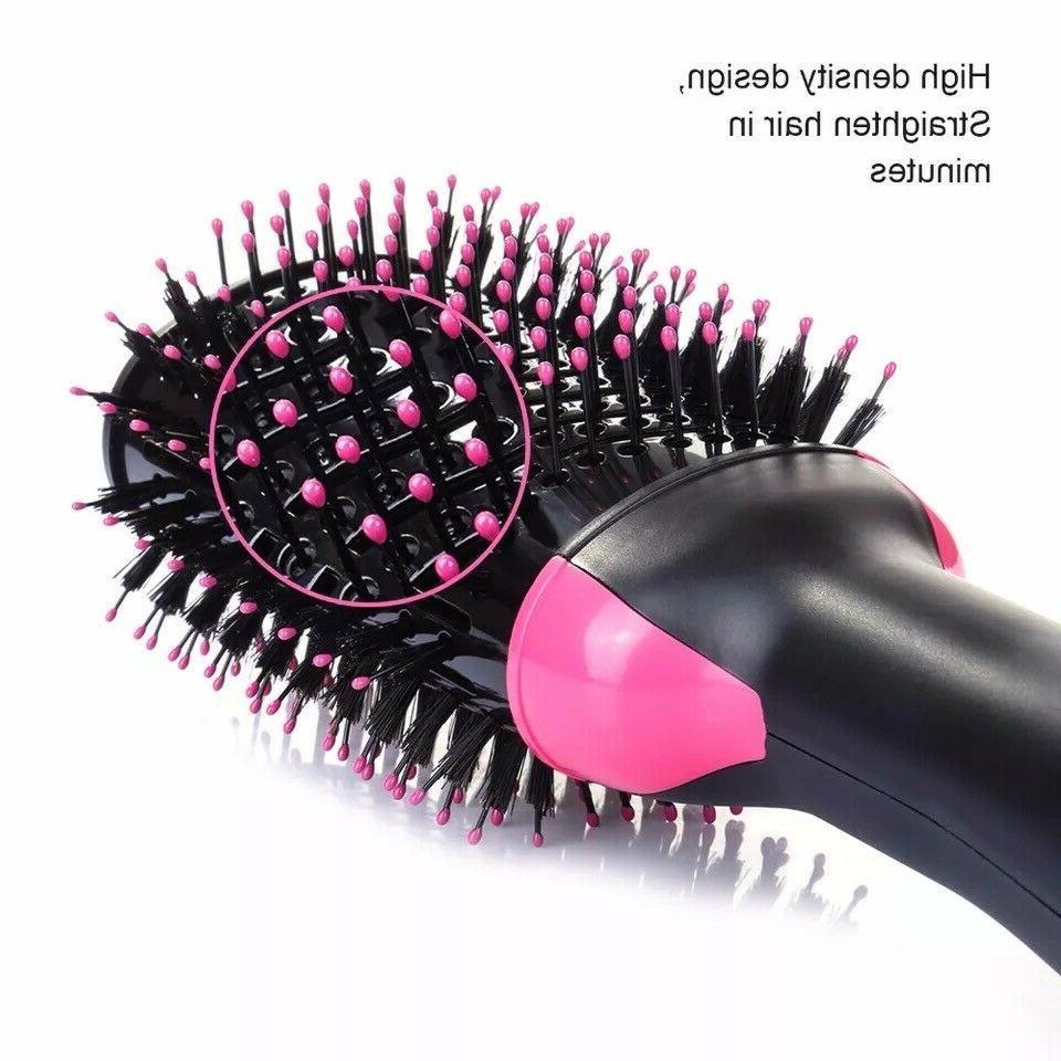 Hair Straightener Brush, Hot Air Dryer Brush Step Volumizer